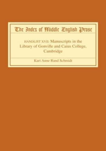 The Index of Middle English Prose, Handlist: Kari Anne Rand
