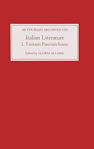 9780859916455: Italian Literature I: Tristano Panciatichiano