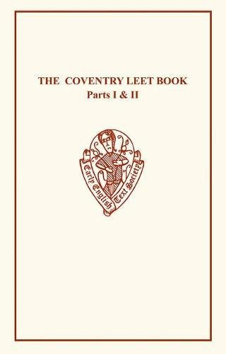 9780859916721: Coventry Leet Book (Early English Text Society Original Series) (Vol 1 & 2)