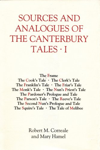 9780859918282: Sources and Analogues of the Canterbury Tales: volume I (28) (Chaucer Studies)