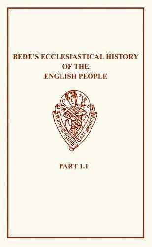 9780859918527: Old English Version of Bede's Ecclesiastical History of the English People I.i (Early English Text Society Original Series) (Vol 1)