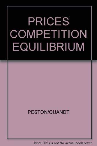 9780860030690: PRICES COMPETITION EQUILIBRIUM