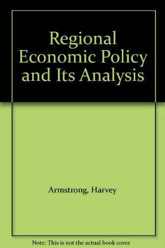 9780860031161: Regional Economic Policy and Its Analysis