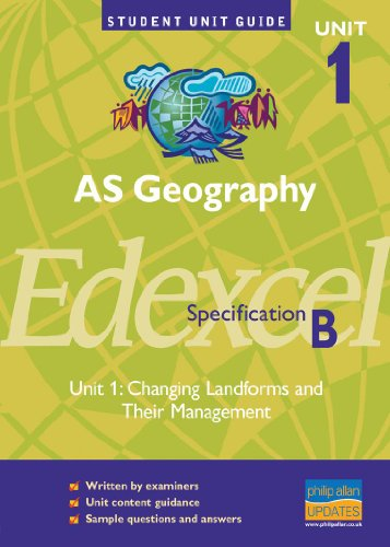 9780860034681: AS Geography, Unit 1, Edexcel Specification B: Changing Landforms and Their Management Unit 1 (Student Unit Guides)