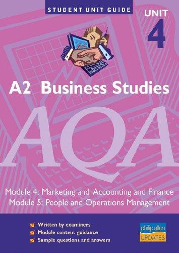 A2 Business Studies AQA Unit 4 Modules: Surridge, Malcolm
