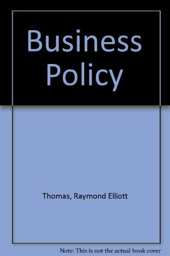 9780860036029: Business Policy (Philip Allan textbooks in business studies)