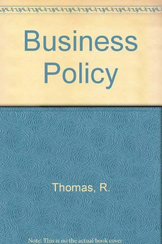 9780860036203: Business Policy
