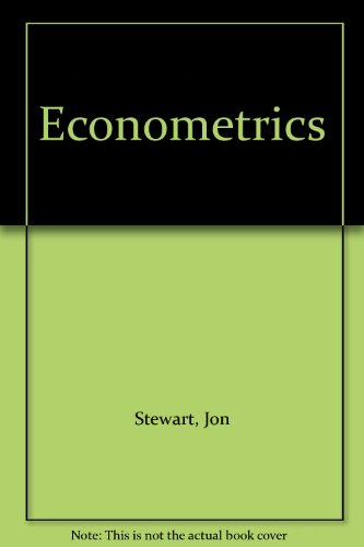 Econometrics (0860038149) by Stewart, Jon