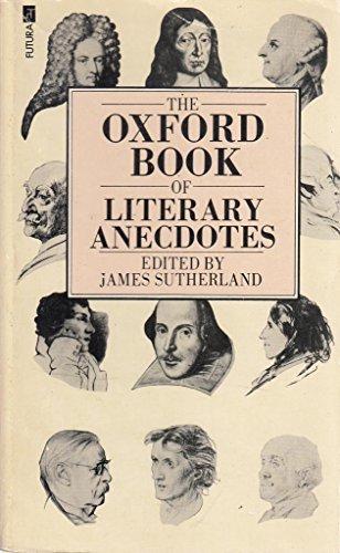 9780860075424: Oxford Book of Literary Anecdotes