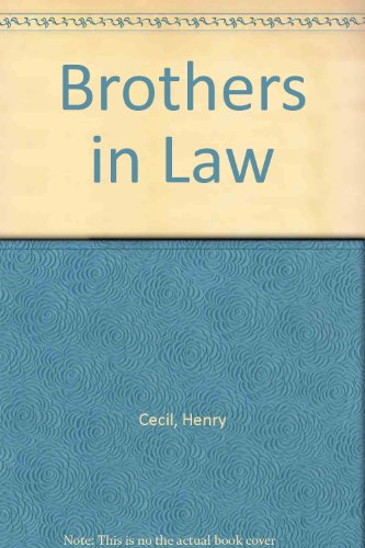 9780860090298: Brothers in Law (Large Print)