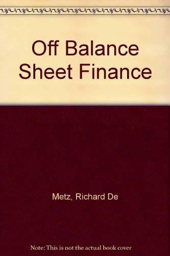 9780860104353: Off-Balance Sheet Finance