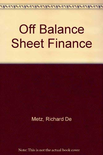 9780860104353: Off-Balance Sheet Finance