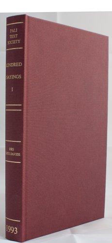 9780860130048: Book of Kindred Sayings: v. 1: Samyutta-Nikaya