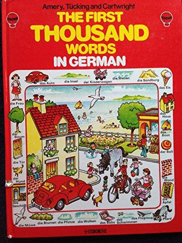9780860202684: German (Usborne First 1000 Words)