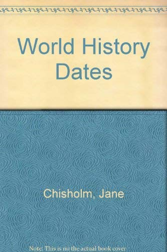 9780860209553: World History Dates