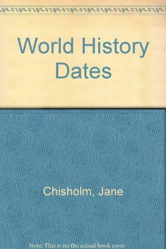 9780860209553: World History Dates