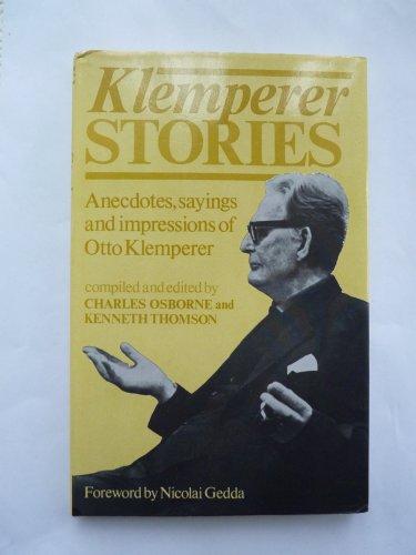 9780860510925: Klemperer Stories