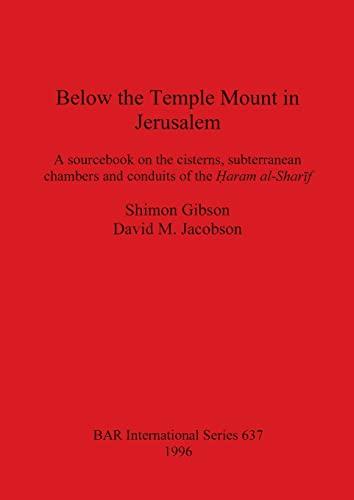 9780860548201: Below the Temple Mount in Jerusalem (Bar International)