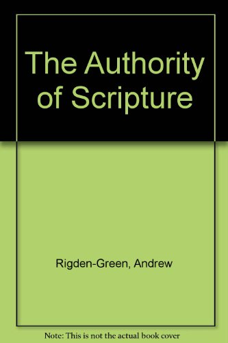 9780860658061: The Authority of Scripture