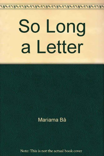 9780860682950: So Long A Letter