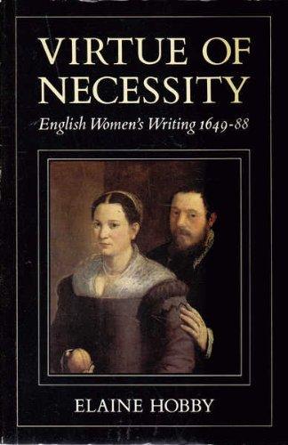 9780860688310: VIRTUE OF NECESSITY. English Women's Writing 1646-1688.