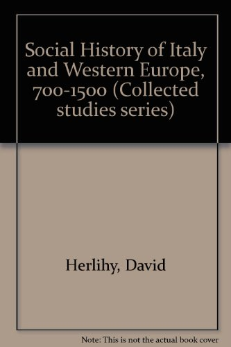 9780860780298: Social History of Italy and Western Europe, 700-1500 (Variorum reprint ; CS84)