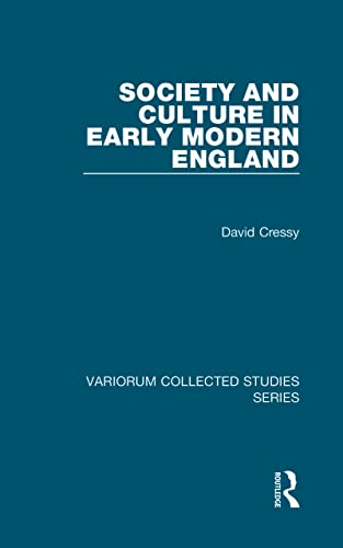 9780860789116: Society and Culture in Early Modern England (Variorum Collected Studies)