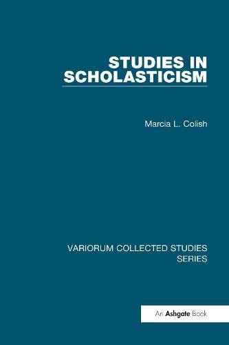 9780860789826: Studies in Scholasticism (Variorum Collected Studies Series)