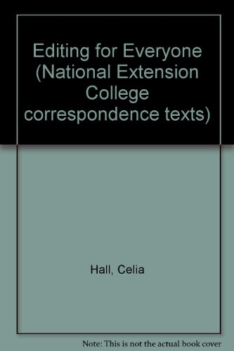 9780860823834: Editing for Everyone (National Extension College correspondence texts)