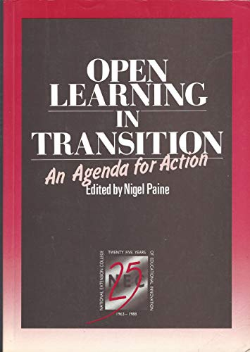 9780860828129: Open Learning in Transition: An Agenda for Action