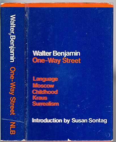 9780860910145: One-way Street and Other Writings
