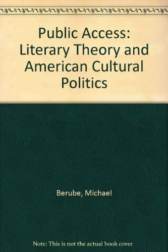 9780860914242: Public Access: Literary Theory and American Cultural Politics
