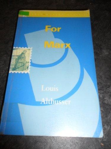 9780860915348: For Marx (Verso Modern Classics)