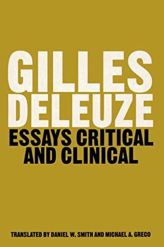 9780860916147: Essays Critical and Clinical