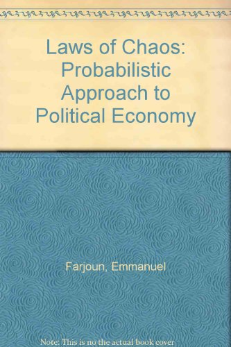 9780860917687: Laws of Chaos: Probabilistic Approach to Political Economy
