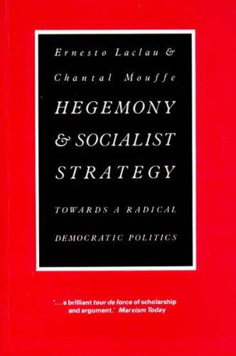 9780860917694: Hegemony and Socialist Strategy: Towards a Radical Democratic Politics