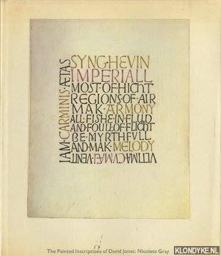 9780860920588: Painted Inscriptions of David Jones
