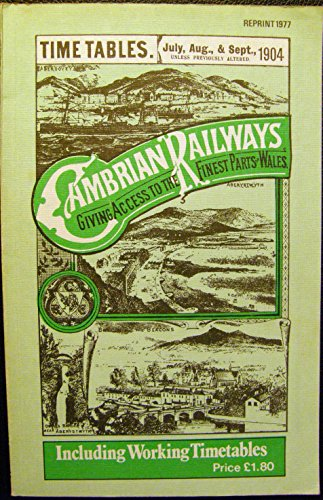 Cambrian Railways Time Tables, 1904