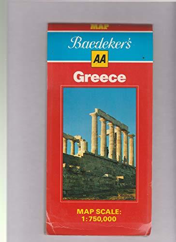 9780861454419: Baedeker's Greece: Map (AA Baedeker's)