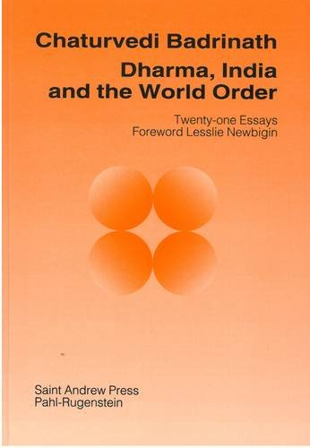9780861531721: Insights Dharma, India & the World Order