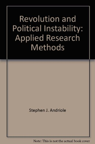 9780861874712: Revolution and political instability: Applied research methods
