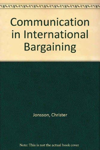 9780861878178: Communication in International Bargaining