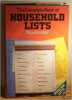 9780861881703: The Complete Book of Household Lists