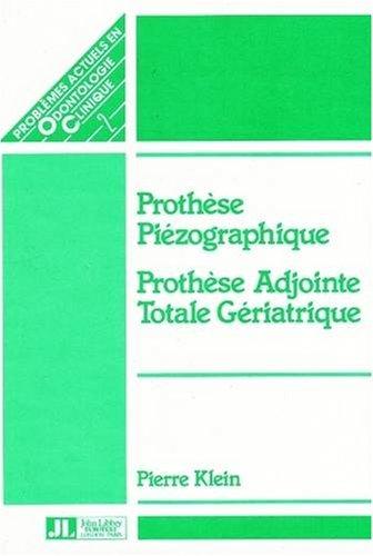 Piezographic Prothesis (Paperback): Pierre Klein