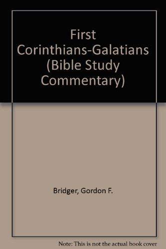 9780862011345: First Corinthians-Galatians (Bible Study Commentary)