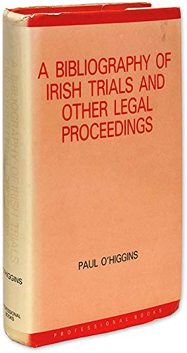 9780862050801: A Bibliography of Irish Trials and Other Legal Proceedings