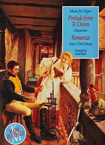 9780862097097: Music for Organ: TE Deum Prelude / Romanza