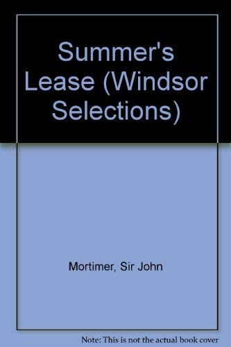 9780862202910: Summer's Lease (Windsor Selections)
