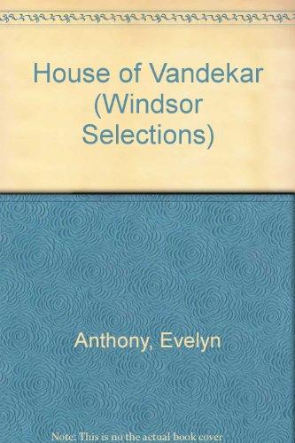 9780862203191: House of Vandekar (Windsor Selections)