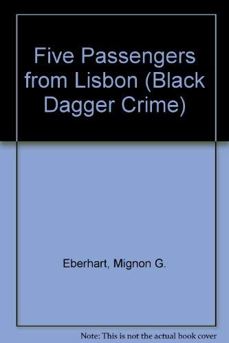 9780862207397: Five Passengers from Lisbon (Black Dagger Crime)